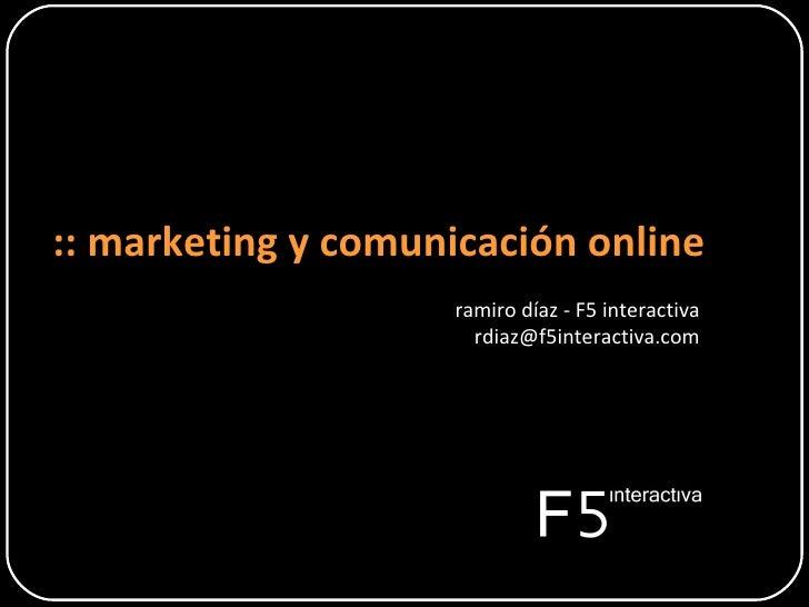 Marketing y Comunicación online