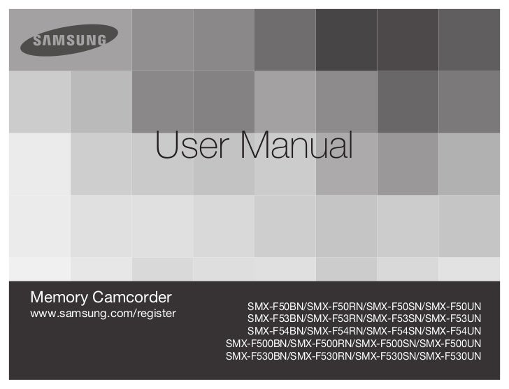 Samsung Digital Camcorder F50 User Manual