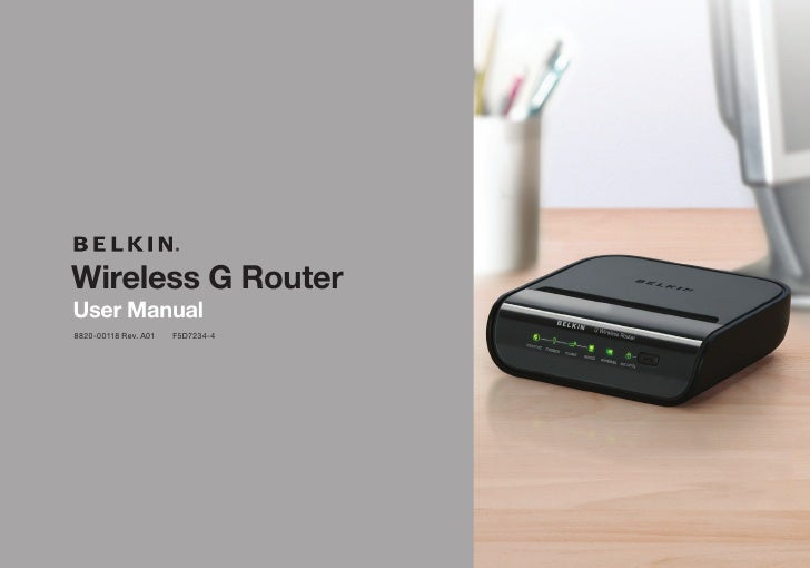 Wireless G Router User Manual 8820-00118 Rev. A01   F5D7234-4