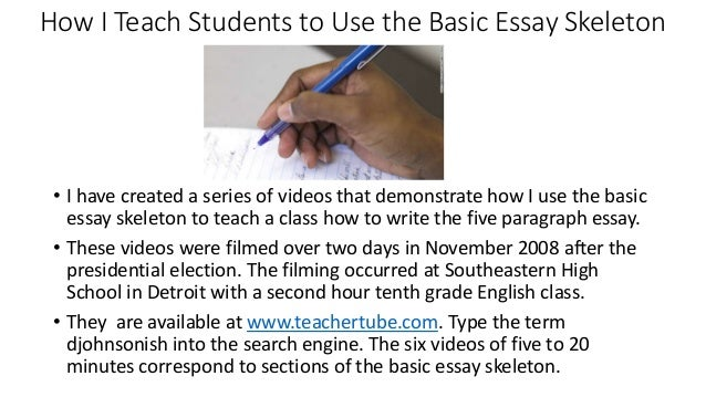 How to teach students to write an essay