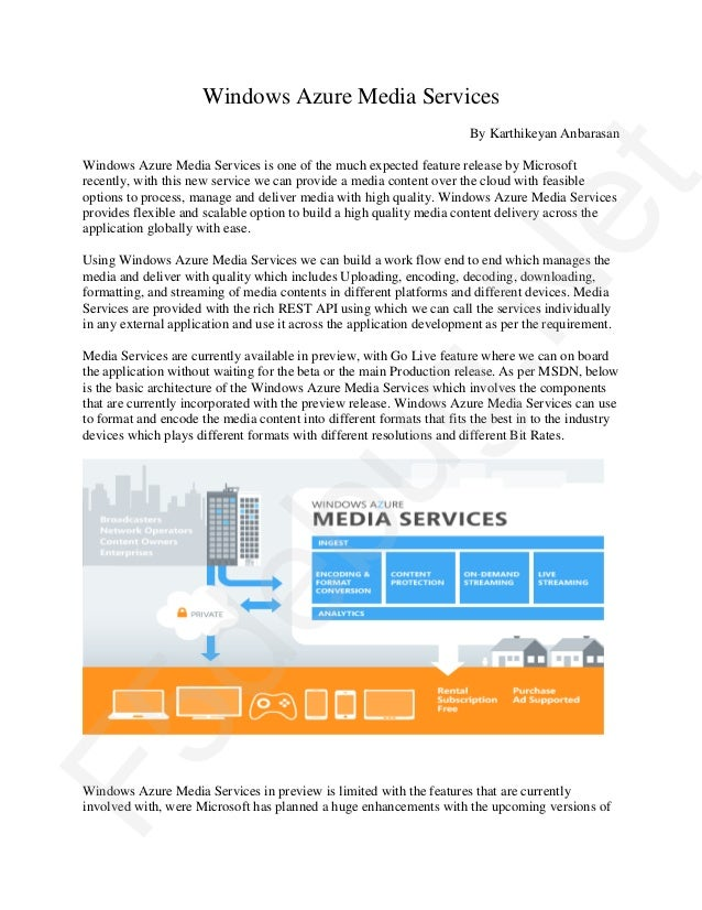 F5debug white paper on windows azure media services