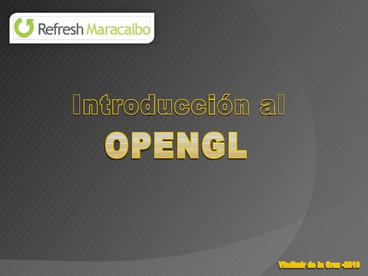 Introduccion al OpenGL