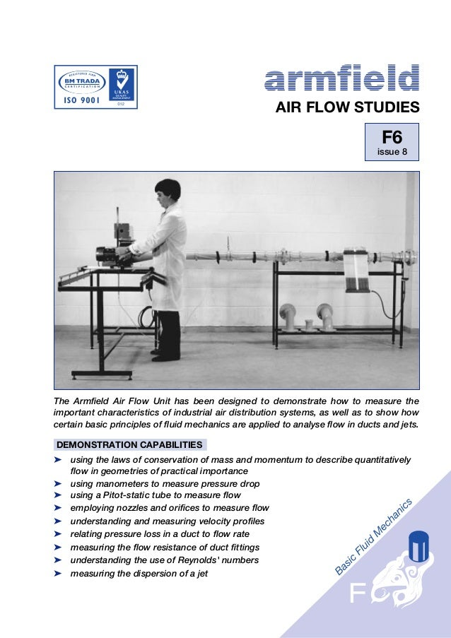 armfield                                                      AIR FLOW STUDIES                                            ...