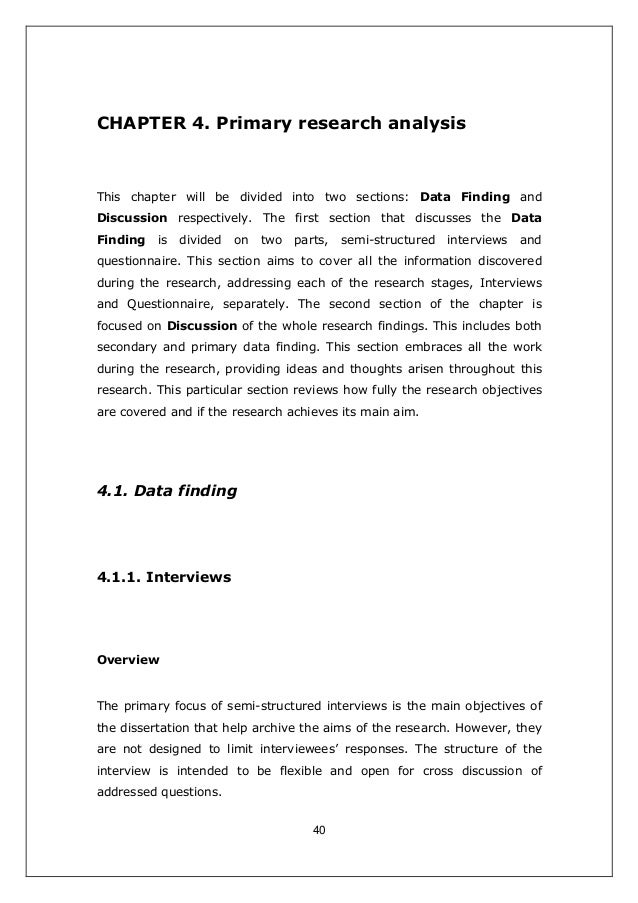 research findings chapter dissertation Guidelines for writing a thesis or dissertation,  chapter 4: findings  for qualitative and historical research, this chapter usually is organized by the themes.