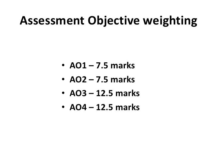 coursework ao2 Course overview a level components coursework (20% of the a level ao2: analyse ways in which meanings are shaped in literary texts ao3.