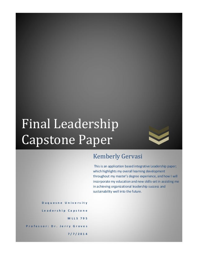 Leadership paper examples