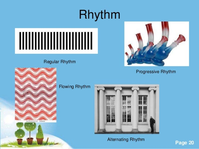 Examples of principles of design rhythm