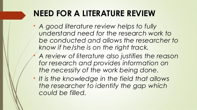 Writing a good literature review