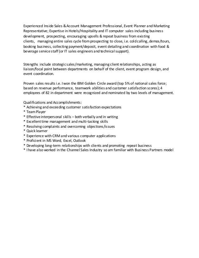 qualifications accomplishments summary