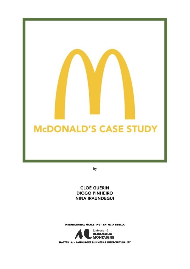 mcdonalds managing a sustainable supply chain case study Mcdonald's global supply chain case   managing a sustainable supply chain food safety should always be the top priority  2018 study moose.