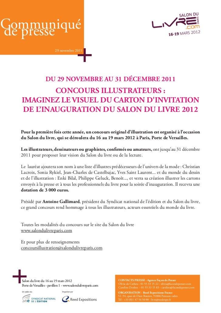 7                                     COMPOSITION DE TITRECommuniquéde presse                                      29 nove...