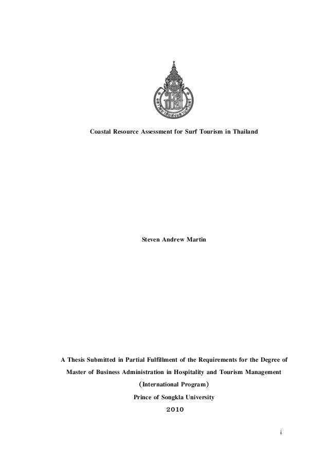 a thesis submitted in partial fulfillment of the requirements for the degree of