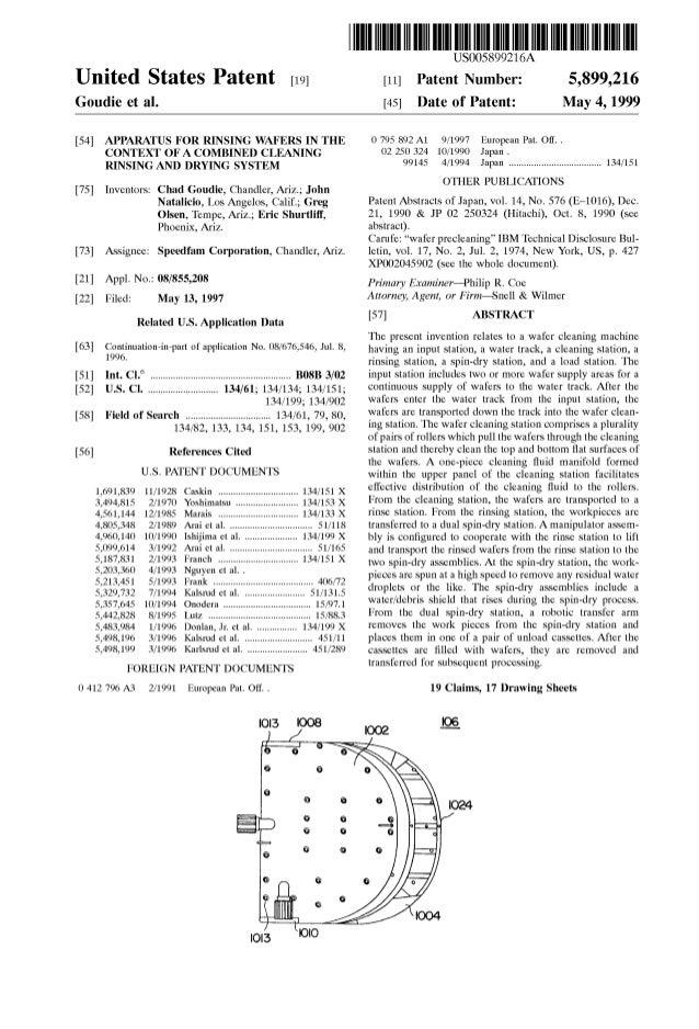 US Patent 5899216