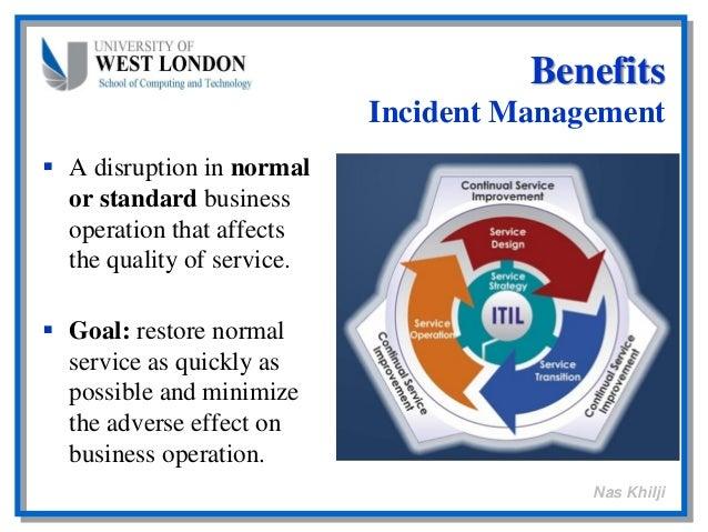 Itil Restore Service : Benefits embedding itil