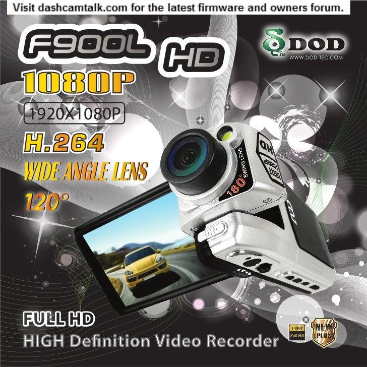 DOD F900LHD User Manual