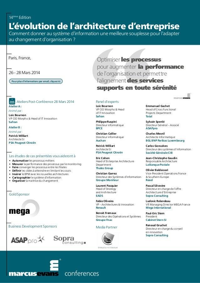 conferences Les études de cas présentées vous aideront à • Automatiser les processus métiers • Mesurer la performance de...