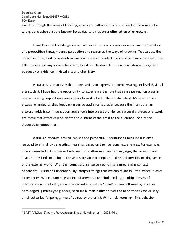 """essay title """"evaluate the claim that Tok prescribed essay title evaluate this claim with reference to two areas of knowledge 2 is the availability of more data always helpful in the production of."""