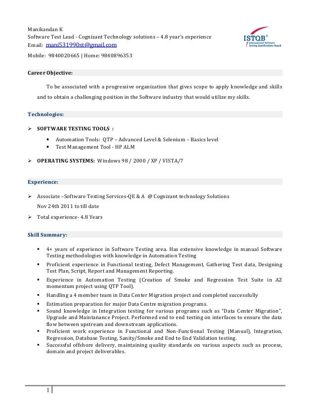 manager lead resume example of cover letter cv test lead linkedin