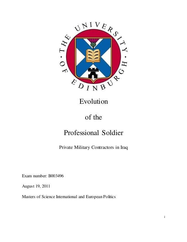 Defense contracting dissertation