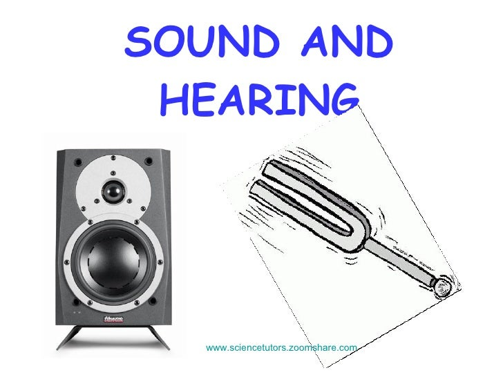 SOUND AND HEARING www.sciencetutors.zoomshare.com
