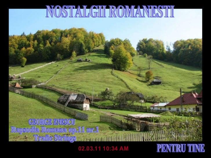Nostalgii românesti