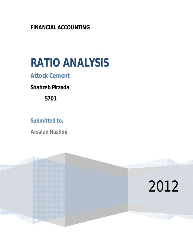 ratio analysis prism cement Basic financial management and ratio analysis for mfis page iii microsave – market-led solutions for financial services 31 team activity.