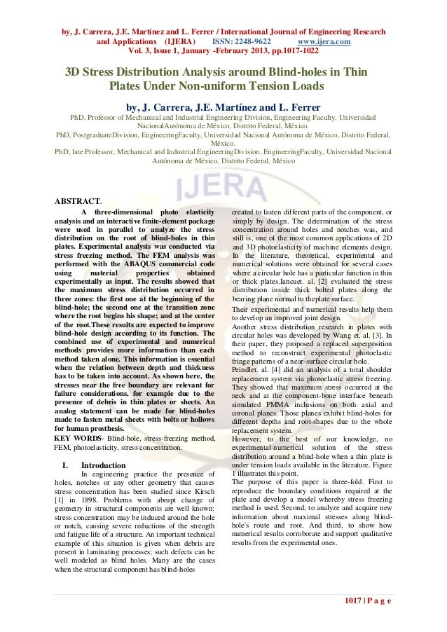 by, J. Carrera, J.E. Martínez and L. Ferrer / International Journal of Engineering Research            and Applications (I...