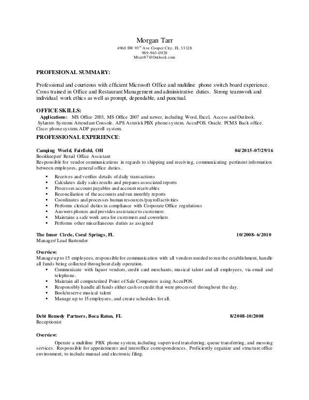 morgan resume