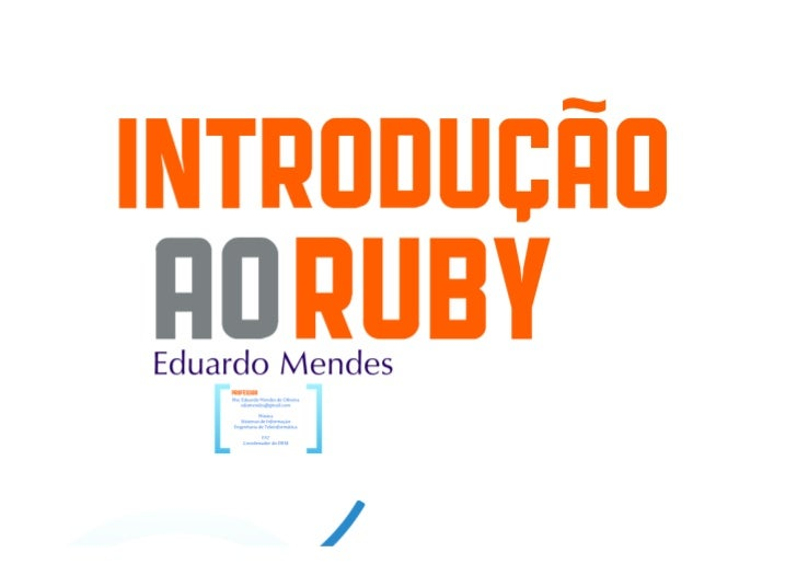 Introdução à Linguagem Ruby - Fundamentos