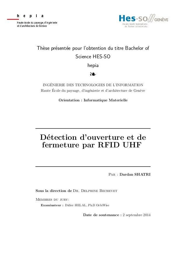 Thèse présentée pour l'obtention du titre Bachelor of Science HES-SO hepia l INGÉNIERIE DES TECHNOLOGIES DE L'INFORMATION ...