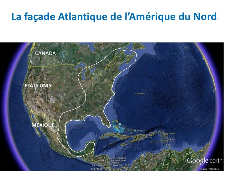 La façade Atlantique de l'Amérique du Nord.  ETATS UNIS