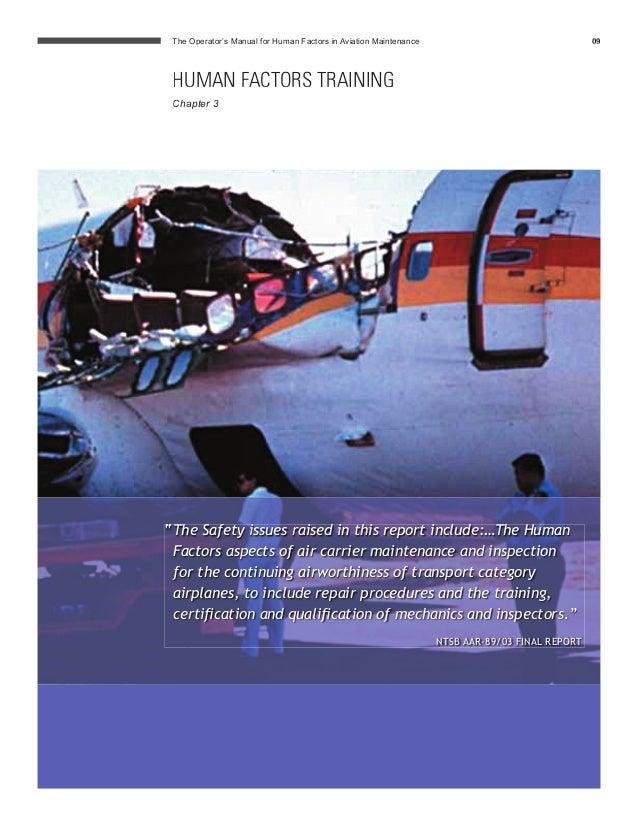 human factors in aircraft maintenance Human factors for maintenance engineers maintenance basic technical training maintenance type training cap 718- human factors in aircraft maintenance.
