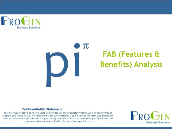FAB (Features &                                                                                            Benefits) Analy...
