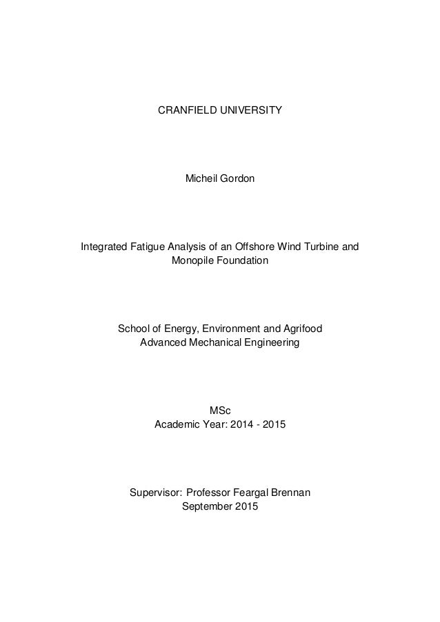 an msc thesis