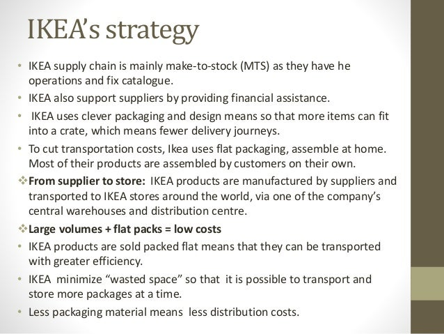 operational logistics of ikea essay Us army logistics g-4 logistics strategic planning guidance 2 employ capabilities to accomplish campaign objectives across the range of military operations.