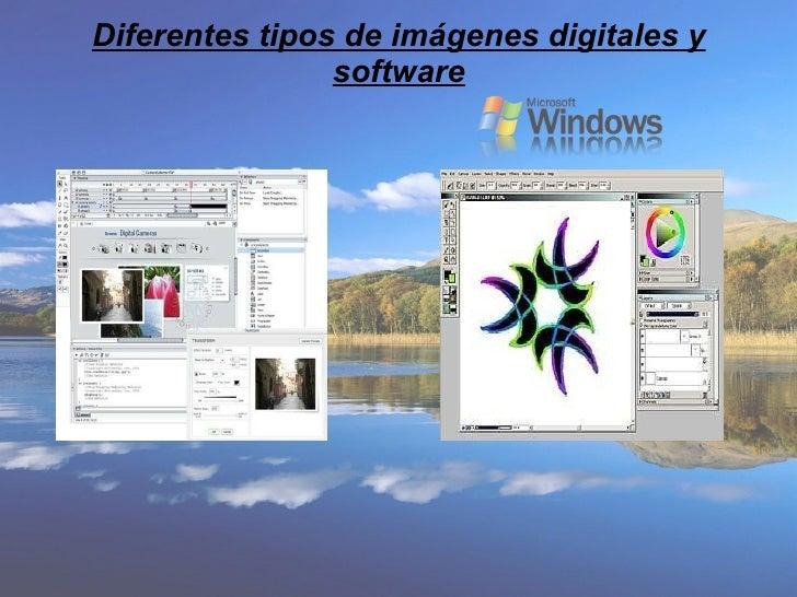 Diferentes tipos de imágenes digitales y software