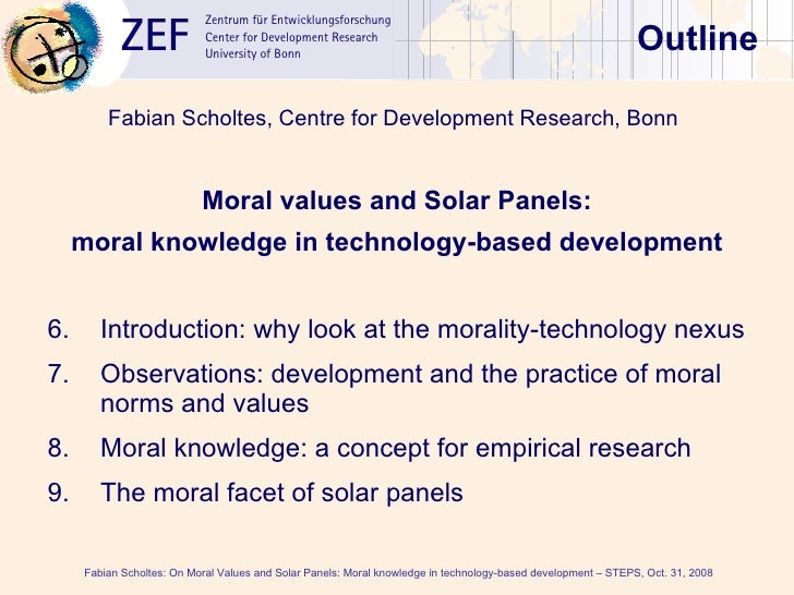 Seminar: Fabian Scholtes on moral knowledge in technology-based development