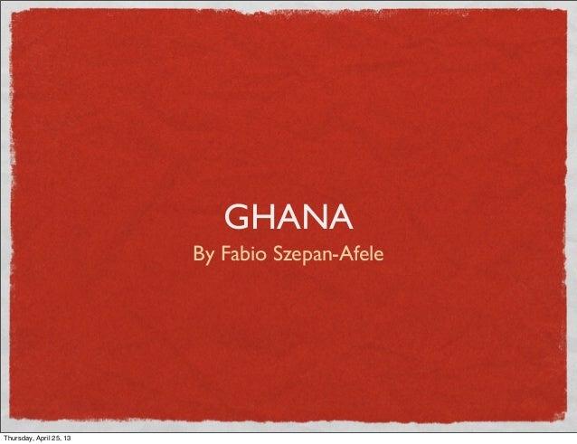 Ghana by Fabio Szepan- Afele