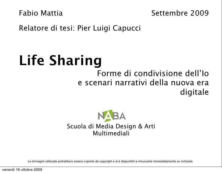 Fabio Mattia - Life Sharing - Tesicamp