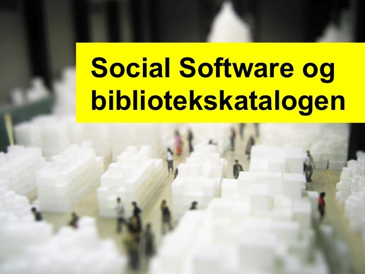 Social Software og bibliotekskatalogen