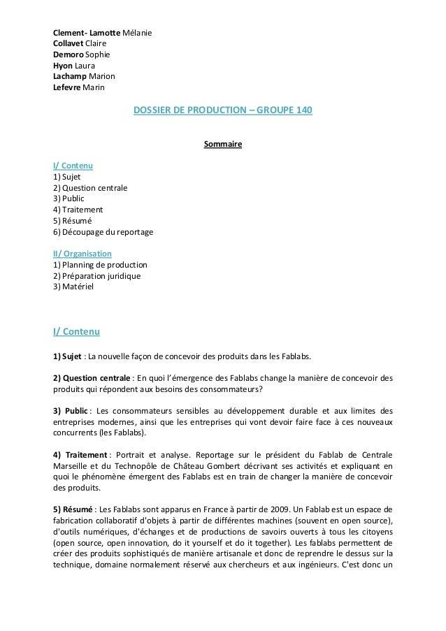 Clement-‐  Lamotte  Mélanie  Collavet  Claire  Demoro  Sophie  Hyon  Laura  Lachamp  Marion  Lefevre  Marin  DOSSIER  DE ...