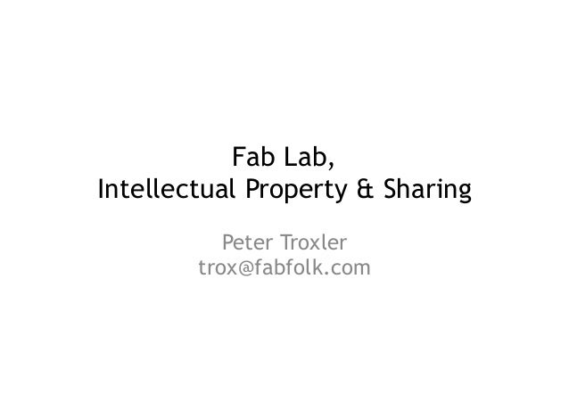 Fablab and Sharing Mechanisms