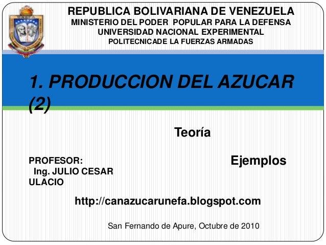 REPUBLICA BOLIVARIANA DE VENEZUELA MINISTERIO DEL PODER POPULAR PARA LA DEFENSA UNIVERSIDAD NACIONAL EXPERIMENTAL POLITECN...