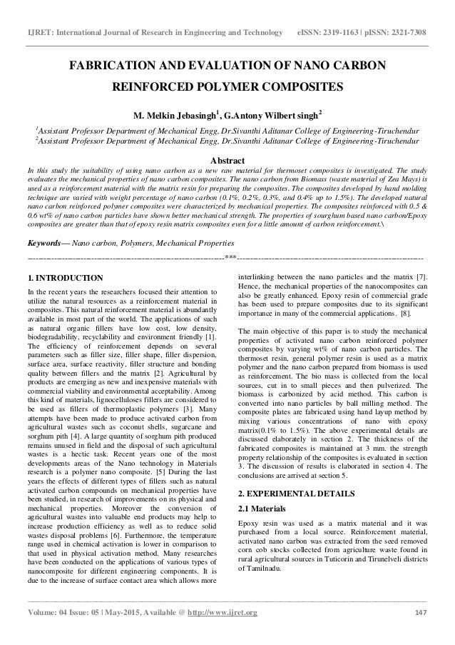 polymer composites research paper Abstract- fiber-reinforced polymer composite materials are this paper gives a review of some fibre along with advances in polymer research to produce.