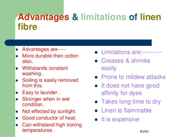 Image Gallery Linen Advantages And Disadvantages