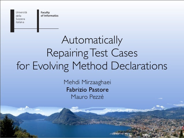 Automatically Repairing Test Cases for Evolving Method Declarations