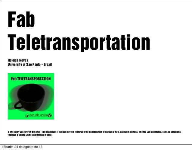 Presentation: Fab Teletransportation at Fab9 Japan