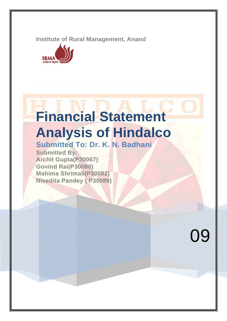 Financial Analysis HINDALCO 2009