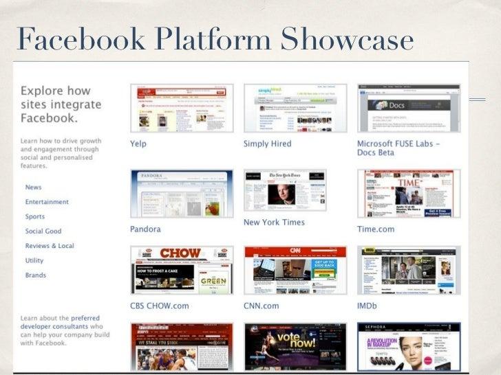 Facebook Platform Showcase