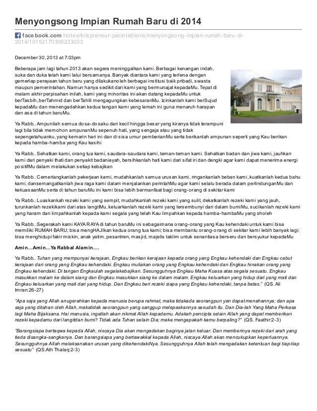 Menyongsong Impian Rumah Baru di 2014 facebook.com /notes/krispreneur-pecintabisnis/menyongsong-impian-rumah-baru-di2014/1...